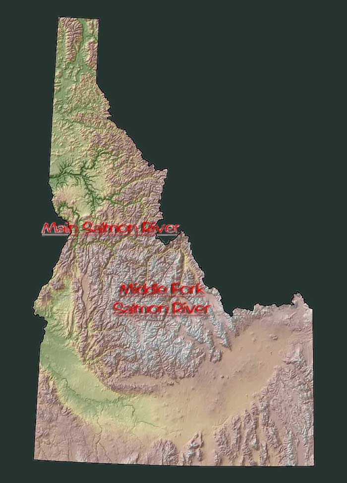 Map of Idaho Jeff Helfrich Fly Fishing