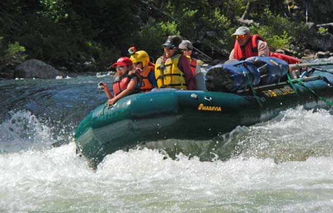 Rafting the Middle fork Salmon River Idaho